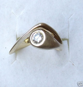 Designer Ring BRILLANT 0,35 CT 585 Gold