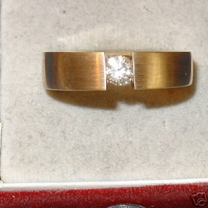 TOP Spannring BRILLANT 0,31 ct 585 Gold