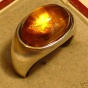 Topmoderner Ring CITRIN 10,5 ct 585 Gold